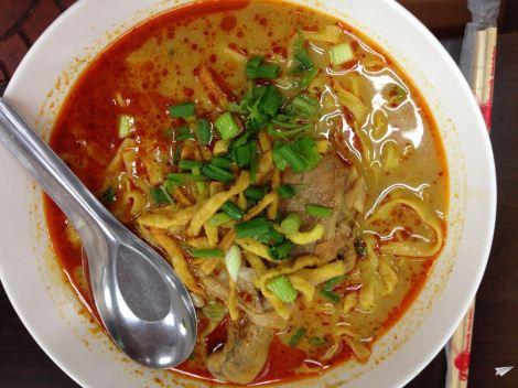 El deliciosísimo Khao Soi del norte de Tailandia.