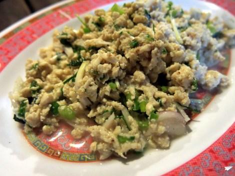 El delicioso Larb tailandés, una versión del rico Laap laosiano.