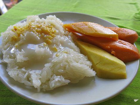 Mango Sticky Rice, delicia dulce.